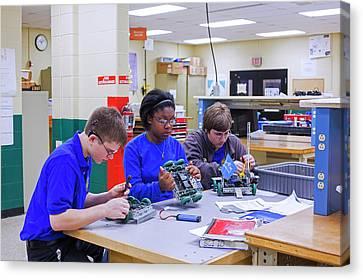 Engineering Academy Robotics Students Canvas Print by Jim West