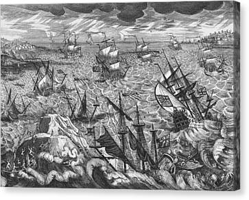 England S Great Storm Canvas Print by English School