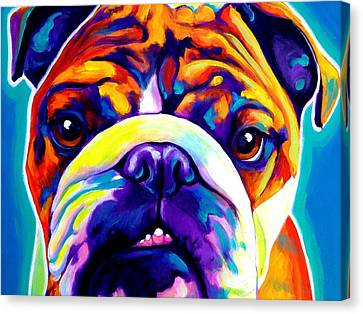 Bulldog - Bond Canvas Print by Alicia VanNoy Call