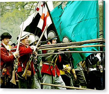 English Civil War Infantry Canvas Print by Gerald McNamee