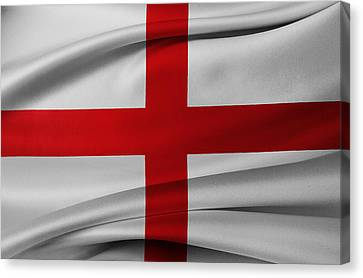 English Flag Canvas Print by Les Cunliffe