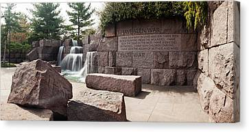 Engraved Memorial Wall, Franklin Delano Canvas Print by Panoramic Images