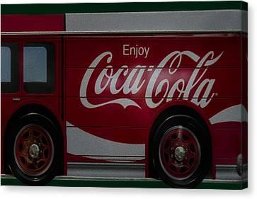 Enjoy Coca Cola Canvas Print by Susan Candelario