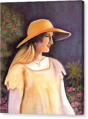 Enjoying A Beautiful Garden Canvas Print by Lamarr Kramer