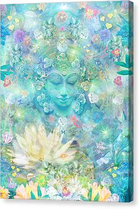 Enlightened Forest Heart 3 Canvas Print by Alixandra Mullins