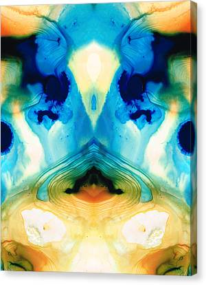 Enlightenment - Abstract Art By Sharon Cummings Canvas Print by Sharon Cummings