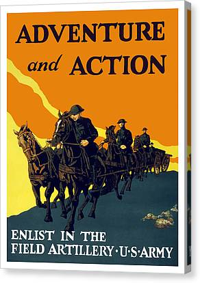 Enlist In The Field Artillery Canvas Print by War Is Hell Store