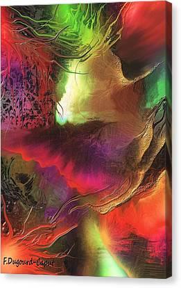 Enseveli Canvas Print by Francoise Dugourd-Caput