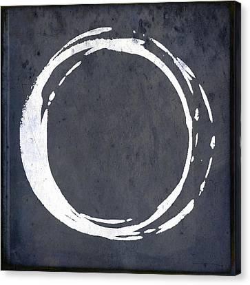 Enso No. 107 Blue Canvas Print by Julie Niemela