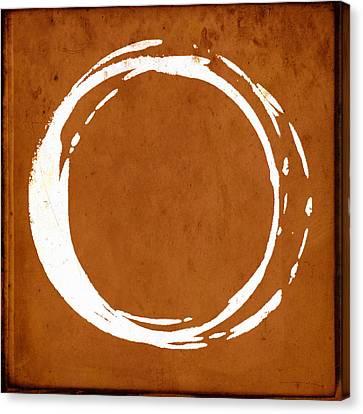 Enso No. 107 Orange Canvas Print by Julie Niemela