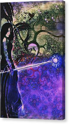 Entering In The Spirit Of The Night Canvas Print by Linda Sannuti