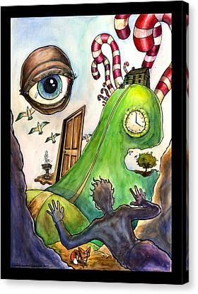 Entering The Lucid Dream Canvas Print by John Ashton Golden