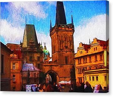 Entering The Old Town Canvas Print by Jo-Anne Gazo-McKim