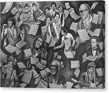 Entertainment Greats Canvas Print by Kenneth Harris II