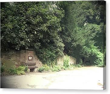 Entrance Door To Demolished Hall, Garden Portal Canvas Print by Litz Collection
