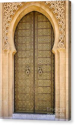 Entrance Door To The Mausoleum Mohammed V Rabat Morocco Canvas Print by Ralph A  Ledergerber-Photography
