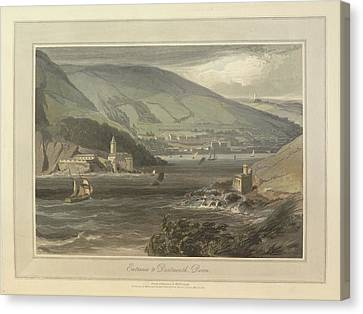 Entrance To Dartmouth Canvas Print by British Library