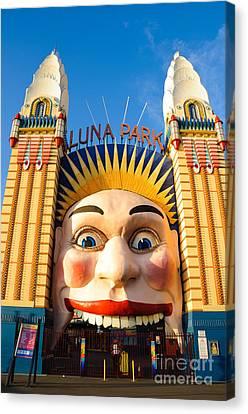 Entrance To Luna Park - Sydney - Australia Canvas Print by David Hill