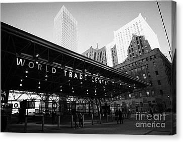 Entrance To The Rebuilt Path Train Station Ground Zero World Trade Center Site New York City Canvas Print by Joe Fox