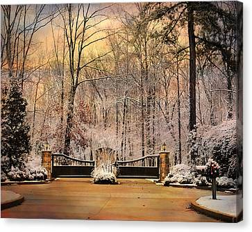 Entrance To Winter Canvas Print by Jai Johnson