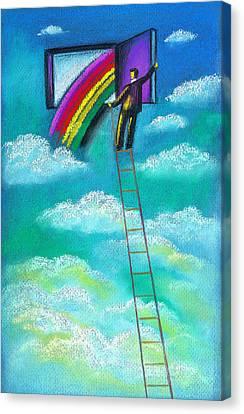 Entrepreneur Canvas Print by Leon Zernitsky