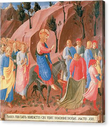 Entry Into Jerusalem Canvas Print by Fra Angelico