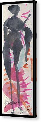 Entwined Figure Series No. 6  Your Back To The Drama Canvas Print by Cathy Peterson