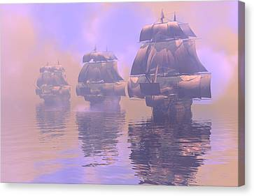 Enveloped By Fog Canvas Print by Claude McCoy