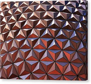 Epcot In The Sun Canvas Print by Benjamin Yeager