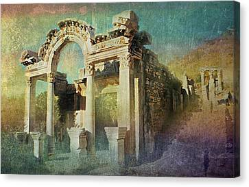 Ephesus Turkey Canvas Print by Diana Angstadt