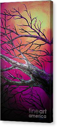 Epic Eclipse Panel 3 Canvas Print by Teshia Art
