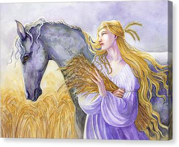 Epona Canvas Print by Janet Chui