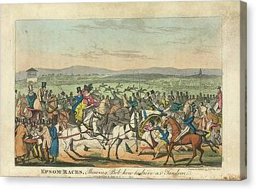 Epsom Races Canvas Print by British Library