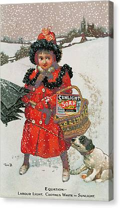 Vintage Advertisement For Soap Canvas Print by English School