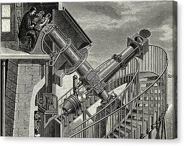 Equatorial Coude' Refracting Telescope Canvas Print by Universal History Archive/uig