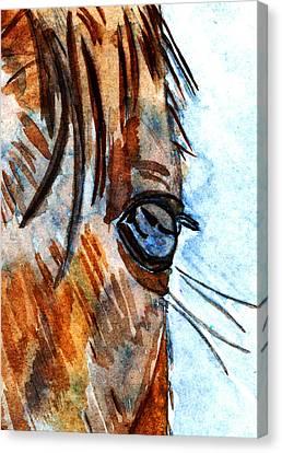 Equine Reflection Canvas Print by Elizabeth Briggs