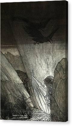 Erda Bids Thee Beware, Illustration Canvas Print by Arthur Rackham