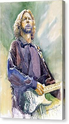 Eric Clapton 05 Canvas Print by Yuriy Shevchuk