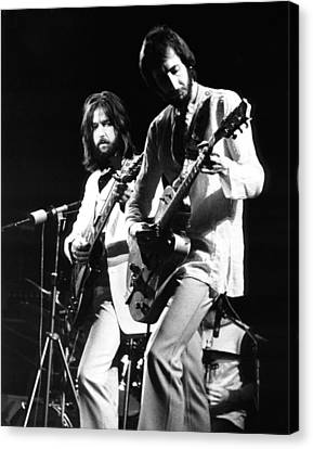 Eric Clapton And Pete Townshend  Canvas Print by Chris Walter
