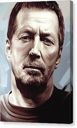 Eric Clapton Artwork Canvas Print by Sheraz A