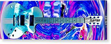 Eric Clapton Guitar Canvas Print by Anthony Caruso
