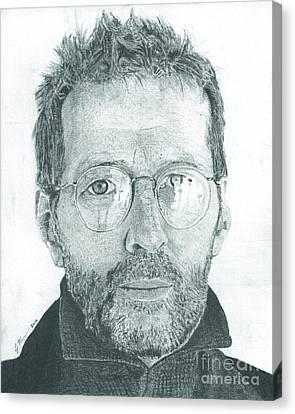 Eric Clapton Canvas Print by Jeff Ridlen
