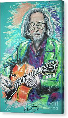 Eric Clapton Canvas Print by Melanie D