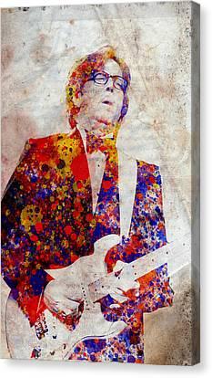 Eric Claptond Canvas Print by Bekim Art