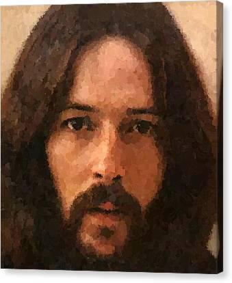 Eric Patrick Clapton Canvas Print by Samuel Majcen