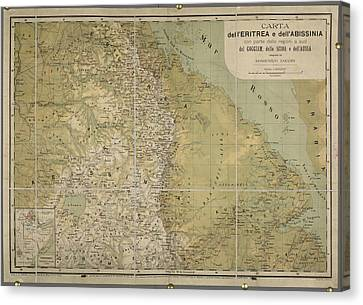 Eritrea And Abissinia Canvas Print by British Library