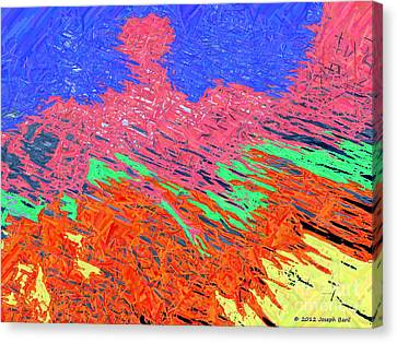 Erupting Lava Meets The Sea Canvas Print by Joseph Baril
