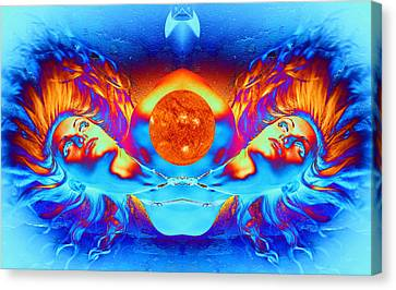 Escape From The Sun Canvas Print by Matthew Lacey