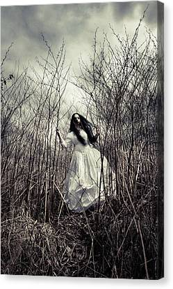 Escaping Bride Canvas Print by Cambion Art