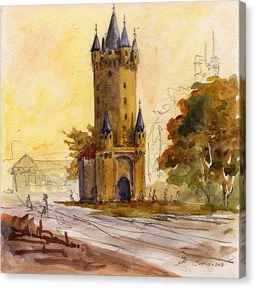 Eschenheimer Turm Canvas Print by Juan  Bosco